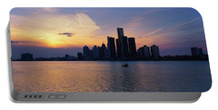 Detroit Skyline Sunset 1 Portable Battery Charger