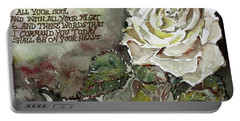Portable Battery Charger featuring the painting Deuteronomy 6 by Mindy Newman