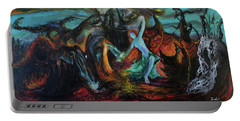 Portable Battery Charger featuring the painting Devils Gorge by Christophe Ennis