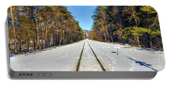 Portable Battery Charger featuring the photograph Devil's Lake Railroad by Ricky L Jones