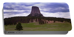 Portable Battery Charger featuring the photograph Devil's Tower 2 by Gary Lengyel