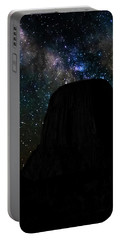 Devils Tower And Milky Way Portable Battery Charger
