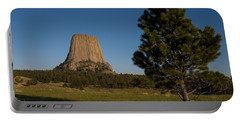 Portable Battery Charger featuring the photograph Devil's Tower by Gary Lengyel