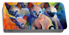 Devon Rex Kitten Cats Portable Battery Charger by Svetlana Novikova