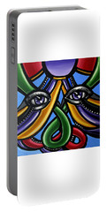 Colorful Contemporary Canvas Painting, Eyeball Artwork, Colorful Modern Art                       Portable Battery Charger