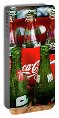 Portable Battery Charger featuring the photograph Dew 7-up N Coke by Trey Foerster