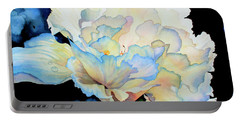 Dew Drops On Peony Portable Battery Charger