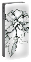 Dew Kissed Camellia Portable Battery Charger