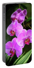 Dew-kissed Moth Orchids Portable Battery Charger
