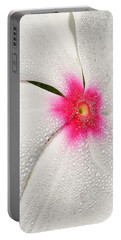Dew-sprinkled Periwinkle Portable Battery Charger