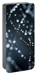 Dewdrops On Cobweb 003 Portable Battery Charger