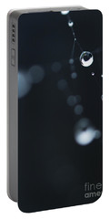 Dewdrops On Cobweb 004 Portable Battery Charger