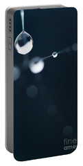 Dewdrops On Cobweb 005 Portable Battery Charger