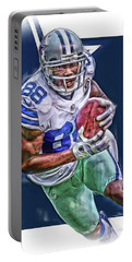 Dez Bryant Dallas Cowboys Oil Art Portable Battery Charger