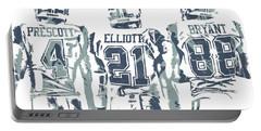 Dez Bryant Ezekiel Elliott Dak Prescott Dallas Cowboys Pixel Art Portable Battery Charger