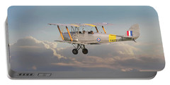 Portable Battery Charger featuring the digital art Dh Tiger Moth - 'first Steps' by Pat Speirs