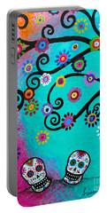 Dia  De Los Muertos Special Couple Portable Battery Charger