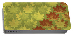 Portable Battery Charger featuring the digital art Diagonal Leaf Pattern by Methune Hively