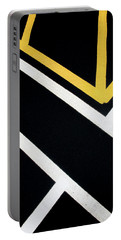 Portable Battery Charger featuring the photograph Diagonal Path Traffic Lines by Gary Slawsky