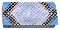Portable Battery Charger featuring the digital art Diamond Blues by Shawna Rowe