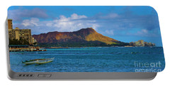Portable Battery Charger featuring the photograph Diamond Head  by Craig Wood