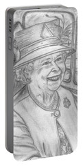 Portable Battery Charger featuring the drawing Diamond Jubilee by Teresa White