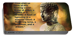 Diamond Sutra Quotation Art Portable Battery Charger by Aurelio Zucco