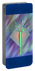 Portable Battery Charger featuring the digital art Diamond Vision 2 by Iris Gelbart