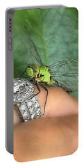 Diamonds Are A Dragonflies Best Friend Portable Battery Charger