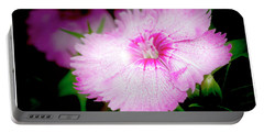 Dianthus Flower Portable Battery Charger