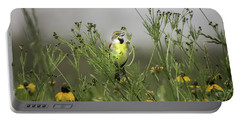 Portable Battery Charger featuring the photograph Dickcissel With Mexican Hat by Robert Frederick