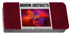 Digital Abstract Art Collection Portable Battery Charger by Modern Art Prints