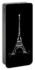 Portable Battery Charger featuring the digital art Digital-art Eiffel Tower - Panoramic by Melanie Viola
