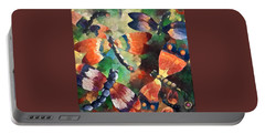 Portable Battery Charger featuring the painting Digital Dragons by Megan Walsh