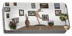 digital exhibition _ A sculpture of a dancing girl 14 Portable Battery Charger