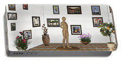 digital exhibition _ Statue of a Statue 22 of posing lady  Portable Battery Charger by Pemaro