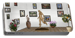 digital exhibition   sculpture of  posing  Girl 32  Portable Battery Charger