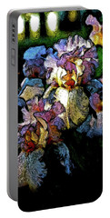 Digital Expressionist Painting Pale Pink Irises 6702 W_4 Portable Battery Charger