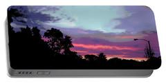 Digital Fine Art Work Sunrise In Violet Gulf Coast Florida Portable Battery Charger