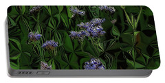 Portable Battery Charger featuring the digital art Digital Garden Iv by Leo Symon