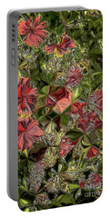 Portable Battery Charger featuring the digital art Digital Garden V by Leo Symon