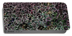 Portable Battery Charger featuring the digital art Digital Garden Vi by Leo Symon