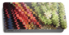 Portable Battery Charger featuring the painting Digital Graphic Art Based On Veggie Salad Photography Christmas Holidays Festivals Birthday Mom Dad  by Navin Joshi