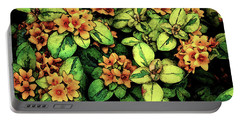 Digital Painting Quilted Garden Flowers 2563 Dp_2 Portable Battery Charger