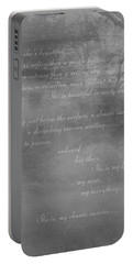Digital Poem Portable Battery Charger