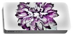 Digital Purple Mum Portable Battery Charger