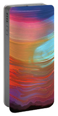 Digital Watercolor Abstract 031417 Portable Battery Charger by Matt Lindley