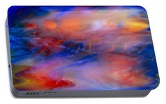 Portable Battery Charger featuring the photograph Digital Watercolor Abstract by Suzanne Stout