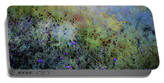 Digital Watercolor Field Of Wildflowers 4064 W_2 Portable Battery Charger