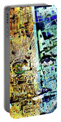Portable Battery Charger featuring the painting Dillinger by Tony Rubino